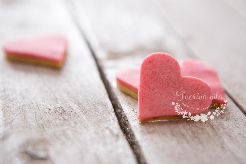 Křehké valentýnské sušenky